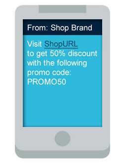 clickSUMO SMS Use Case Shopping Promotions
